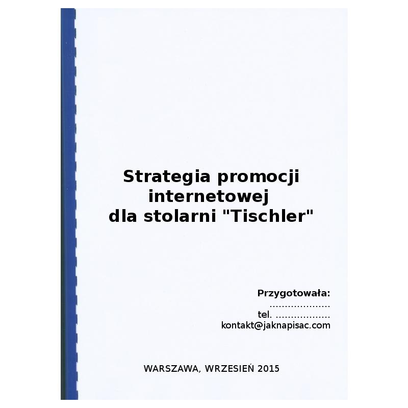 """Strategia promocji internetowej dla stolarni """"Tischler"""" - przykład"""