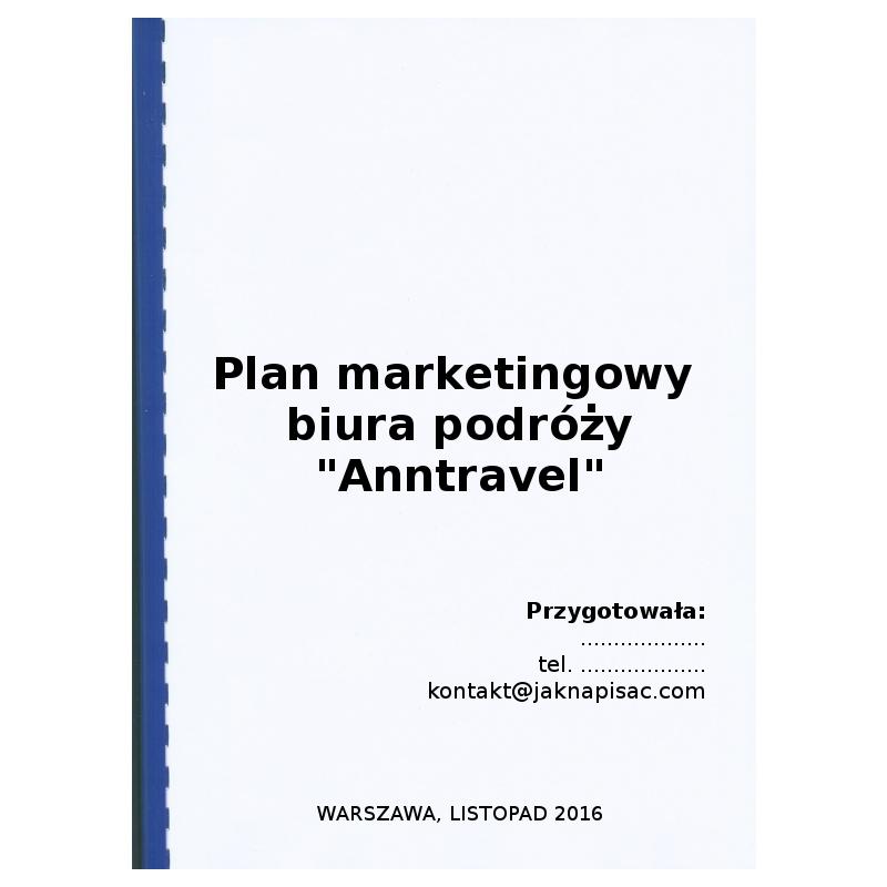 """Plan marketingowy biura podróży """"Anntravel"""""""