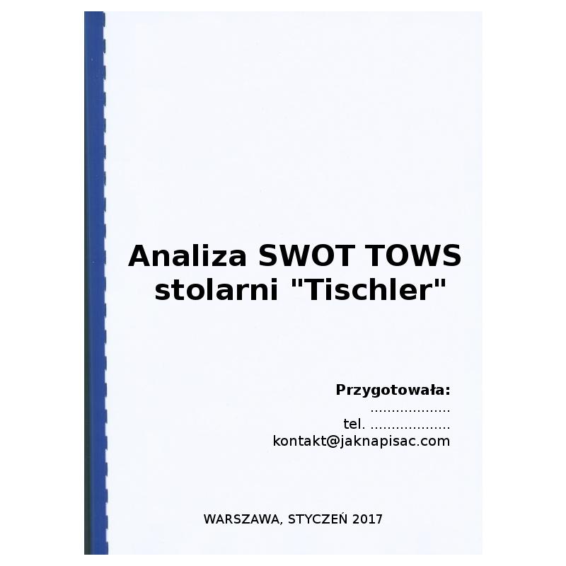 "Analiza SWOT TOWS stolarni ""Tischler"""