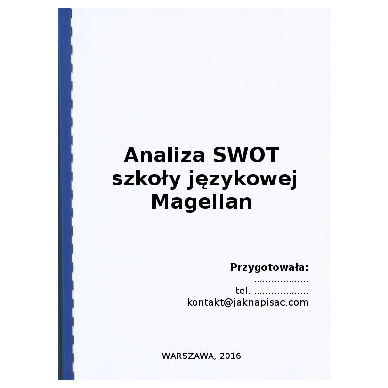 Analiza SWOT szkoły językowej Magellan