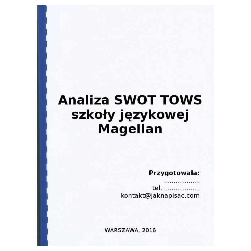 Analiza SWOT TOWS szkoły językowej Magella