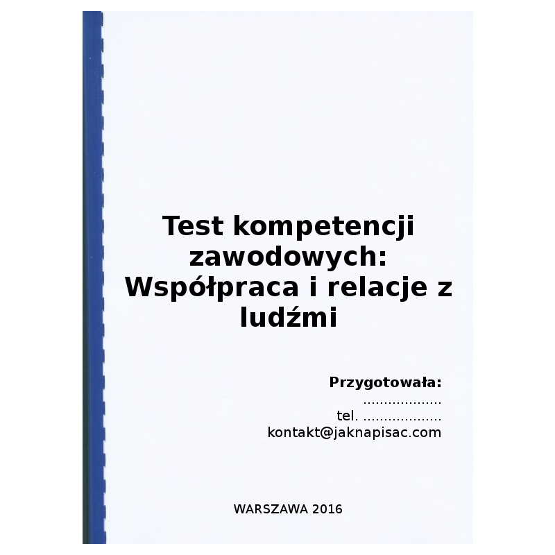 Test kompetencji zawodowych - Współpraca i relacje z ludźmi