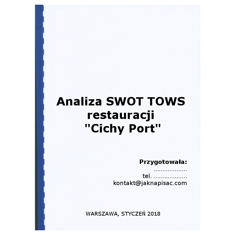 Analiza SWOT TOWS restauracji