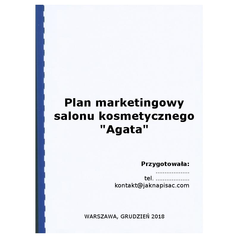"""Plan marketingowy salonu kosmetycznego """"Agata"""""""