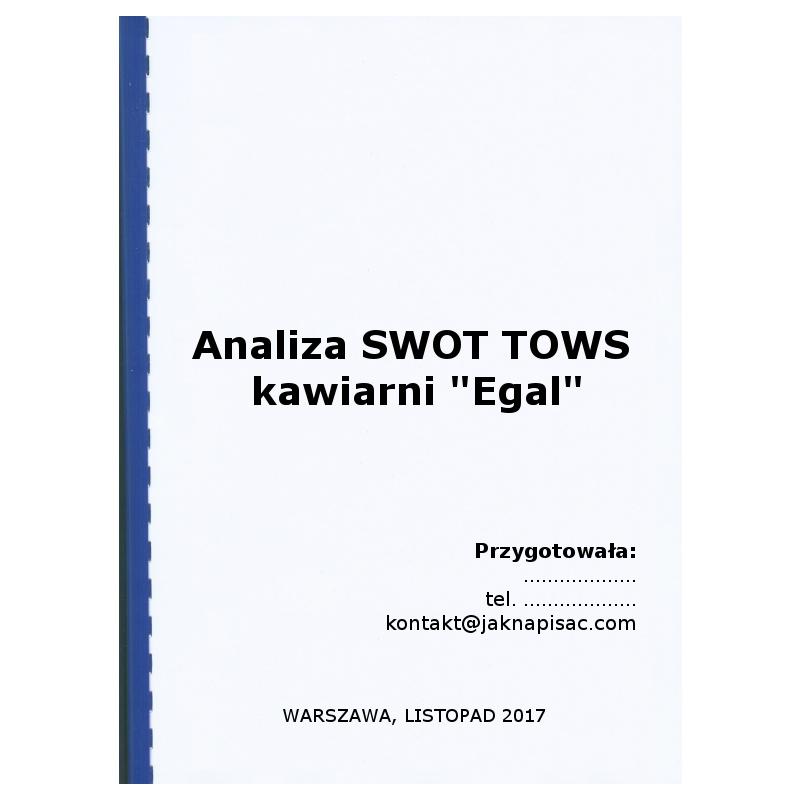 "Analiza SWOT TOWS kawiarni ""Egal"""