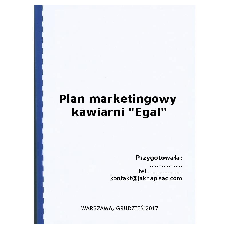 Plan marketingowy kawiarni Egal