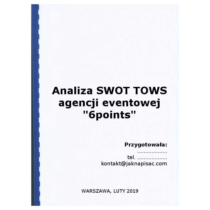 """Analiza SWOT TOWS agencji eventowej """"6points"""""""