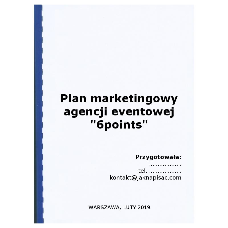 Plan marketingowy agencji eventowej