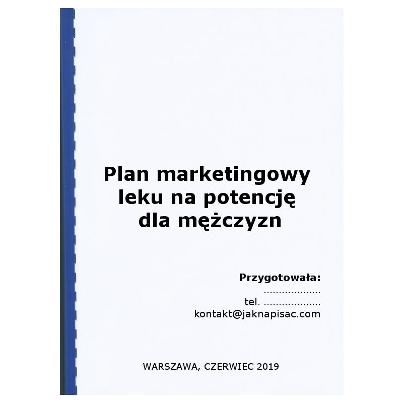 Plan marketingowy leku na potencję dla mężczyzn