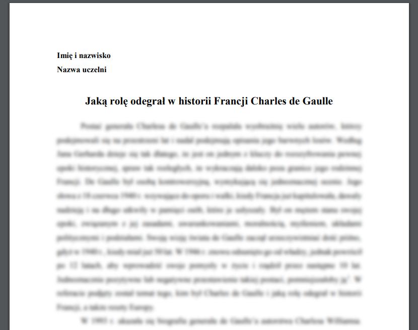Jaką rolę odegrał w historii Francji Charles de Gaulle