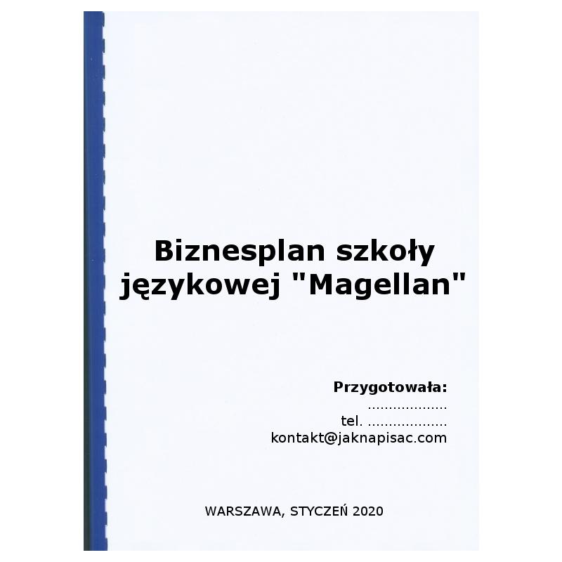 """Biznesplan szkoły językowej """"Magellan"""""""