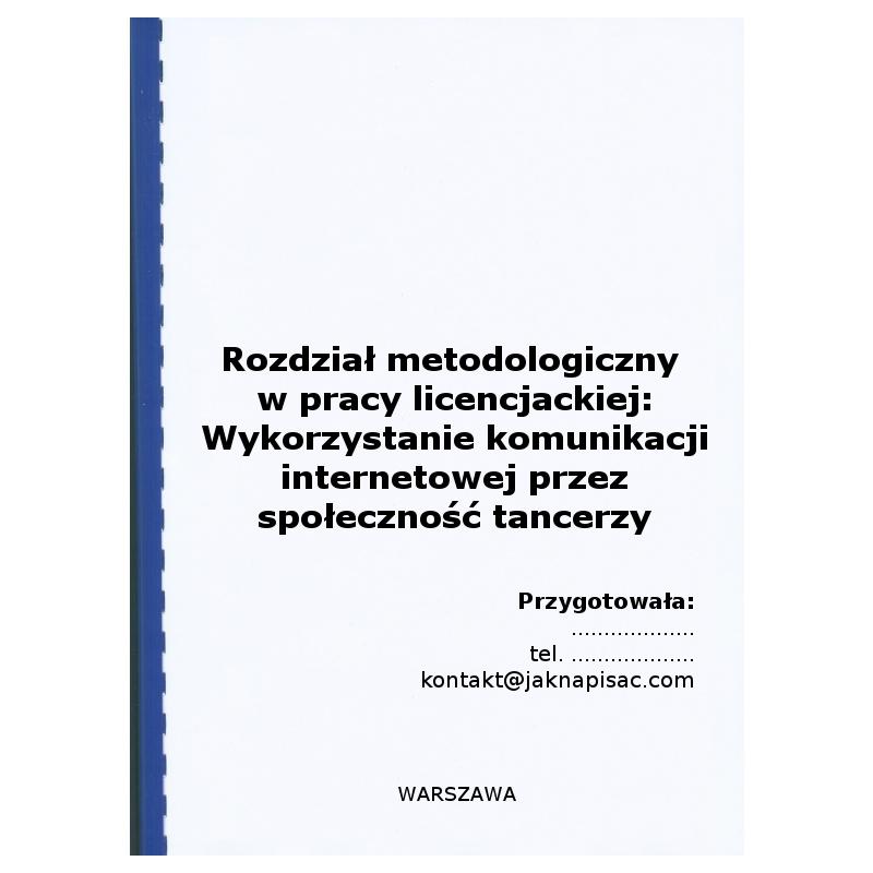 Rozdział metodologiczny w pracy licencjackiej