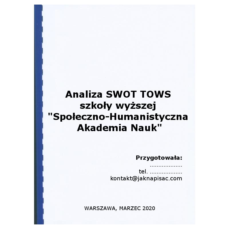 Analiza SWOT TOWS szkoły wyższej