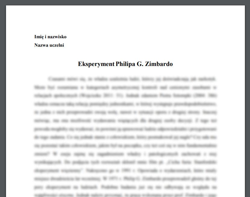 Eksperyment Philipa G. Zimbardo