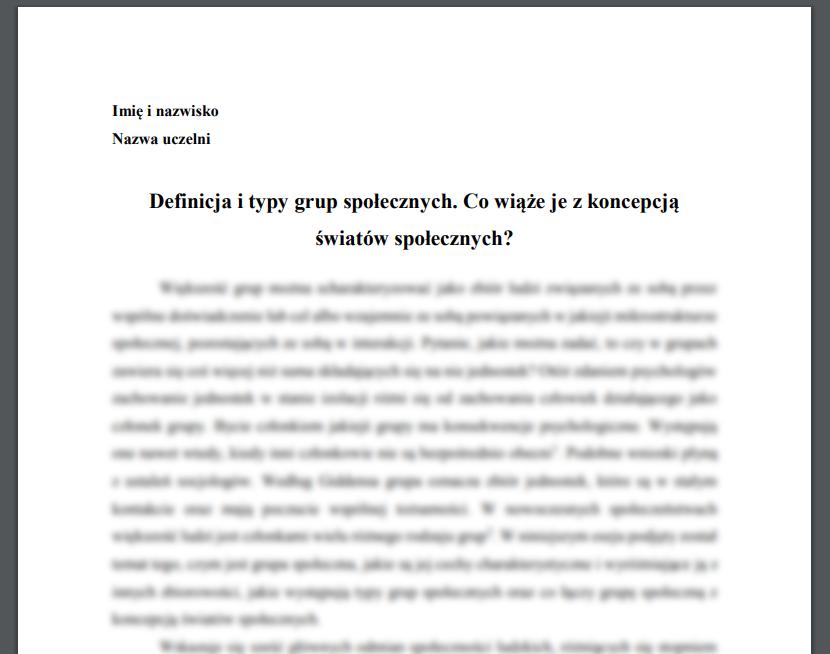Definicja i typy grup społecznych. Co wiąże je z koncepcją światów społecznych?