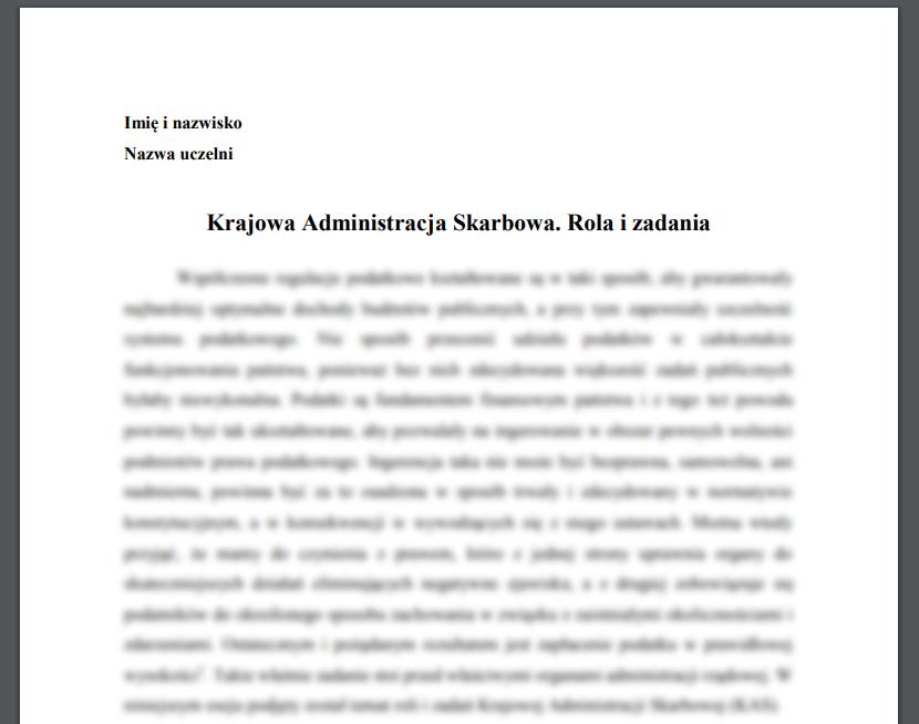 Krajowa Administracja Skarbowa. Rola i zadania