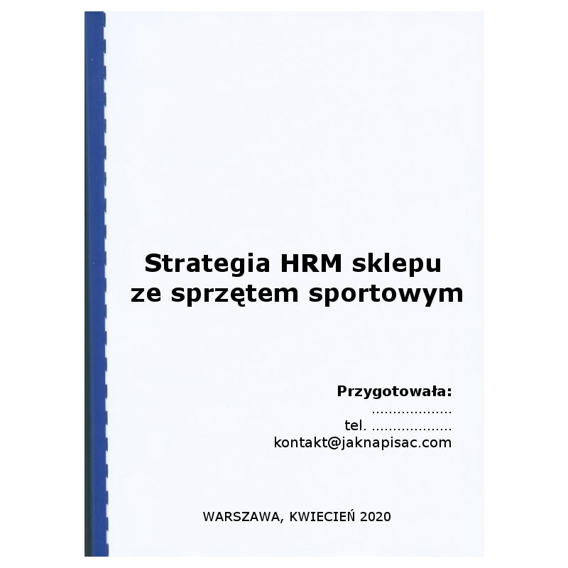 Strategia HRM sklepu ze sprzętem sportowym