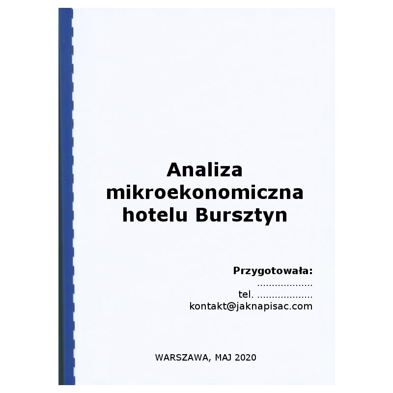 Analiza mikroekonomiczna hotelu Bursztyn