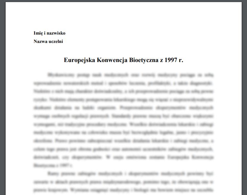 Europejska Konwencja Bioetyczna z 1997 r.