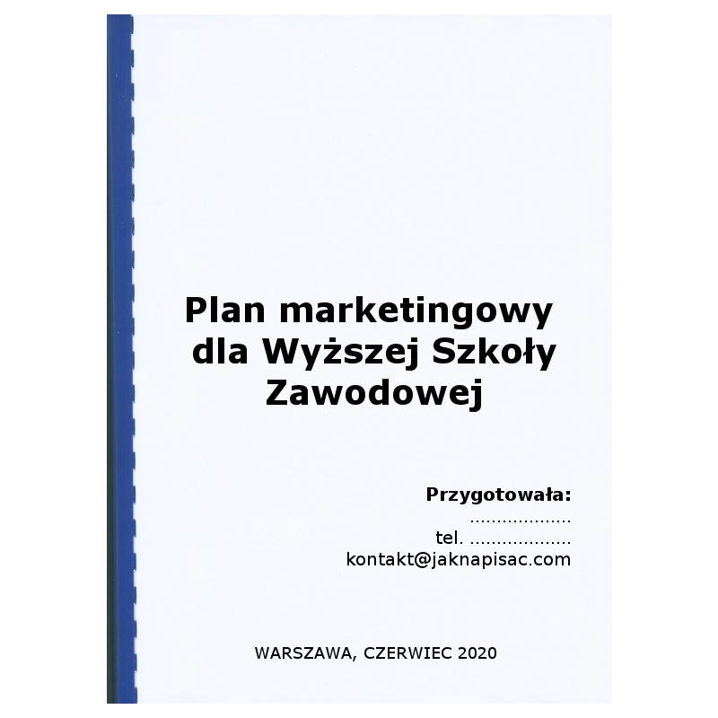 Plan marketingowy dla wyższej szkoły zawodowej