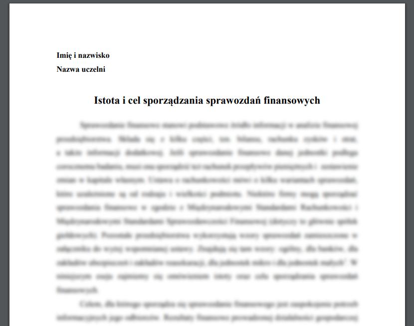 Istota i cel sporządzania sprawozdań finansowych