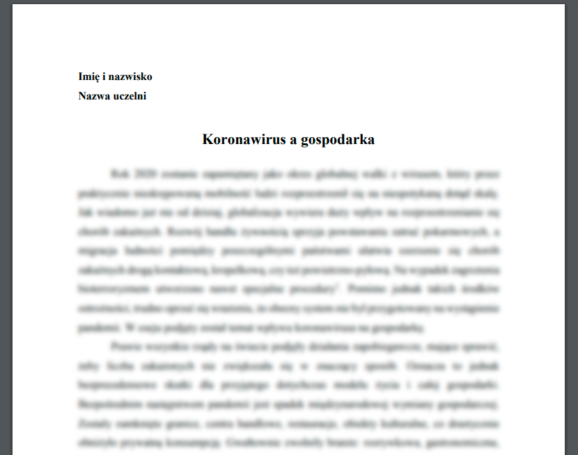 Koronawirus a gospodarka