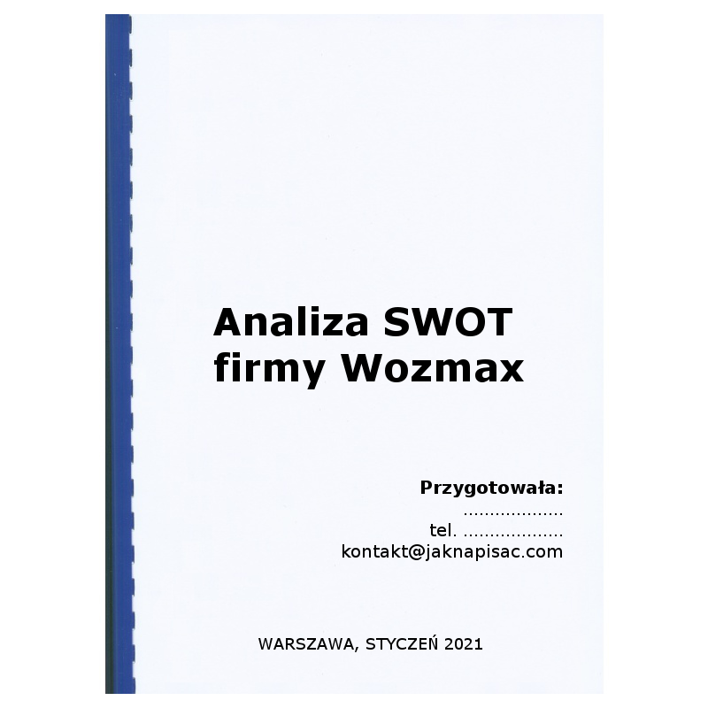 Analiza SWOT firmy Wozmax - wózki widłowe