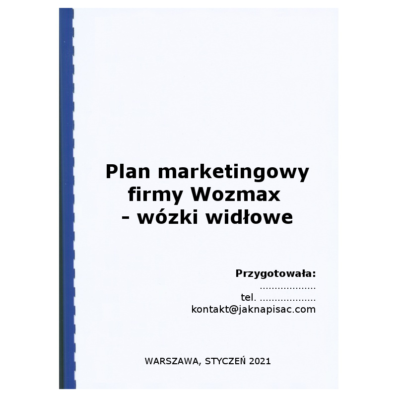 Plan marketingowy Wozmax wózki widłowe