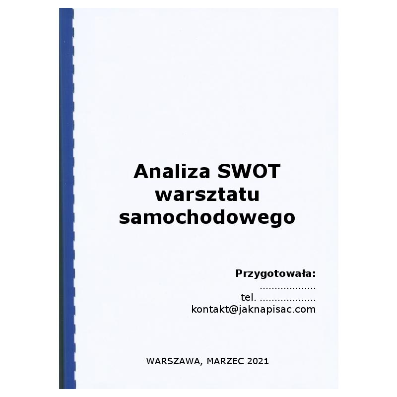 Analiza SWOT warsztatu samochodowego